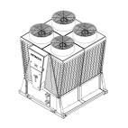 Klimatizace Hitachi Brno - Kompaktní kompresorová chladicí jednotka HITACHI SAMURAI RCME 40, základní modul 106 kW