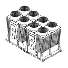 Klimatizace Hitachi Brno - Kompaktní kompresorová dvoumodulová chladicí jednotka HITACHI SAMURAI RCME 80, 212 kW