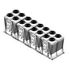 Klimatizace Hitachi Brno - Kompaktní kompresorová čtyřmodulová chladicí jednotka HITACHI SAMURAI RCME 160, 424 kW