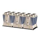 Klimatizace Hitachi Brno - Kompaktní kompresorová třímodulová chladicí jednotka HITACHI SAMURAI RCME 120, 318 kW