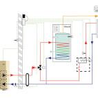 Klimatizace Hitachi, tepelné čerpadlo YUTAKI-M - Technologické schéma