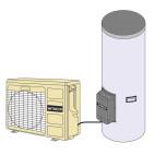 Klimatizace Hitachi, tepelné čerpadlo YUTEMPO - Schéma